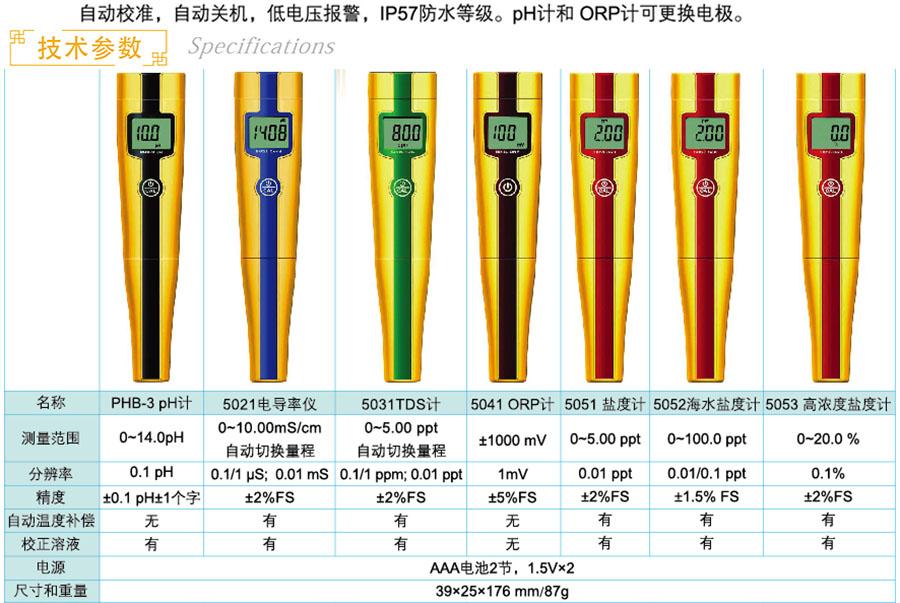 上海三信 经济型测试笔 5052海水盐度计